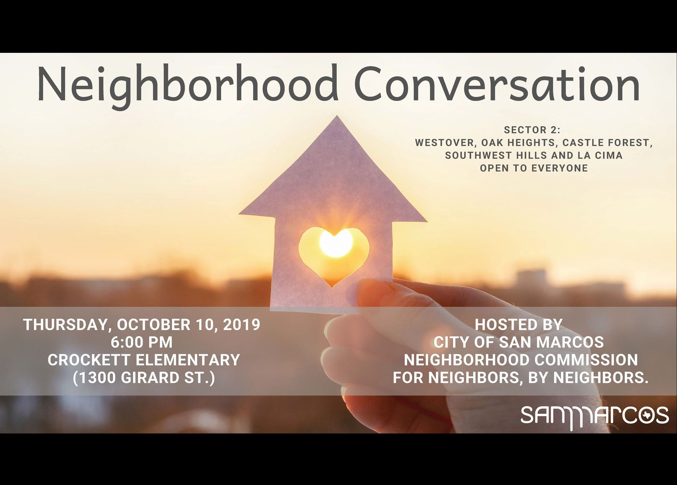 Neighborhood Conversation flyer