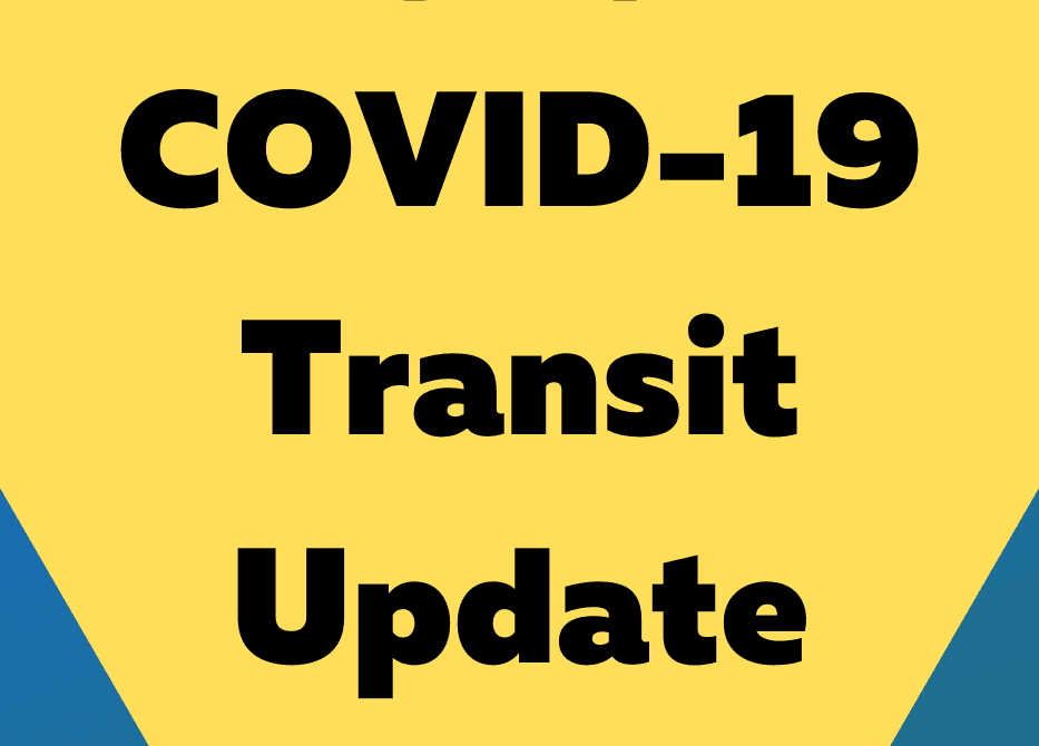 COVID-19 Transit Changes Graphic