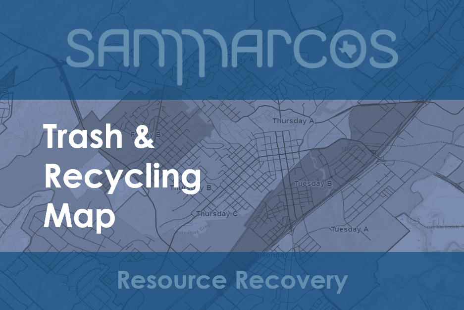 Trash and Recycle Map