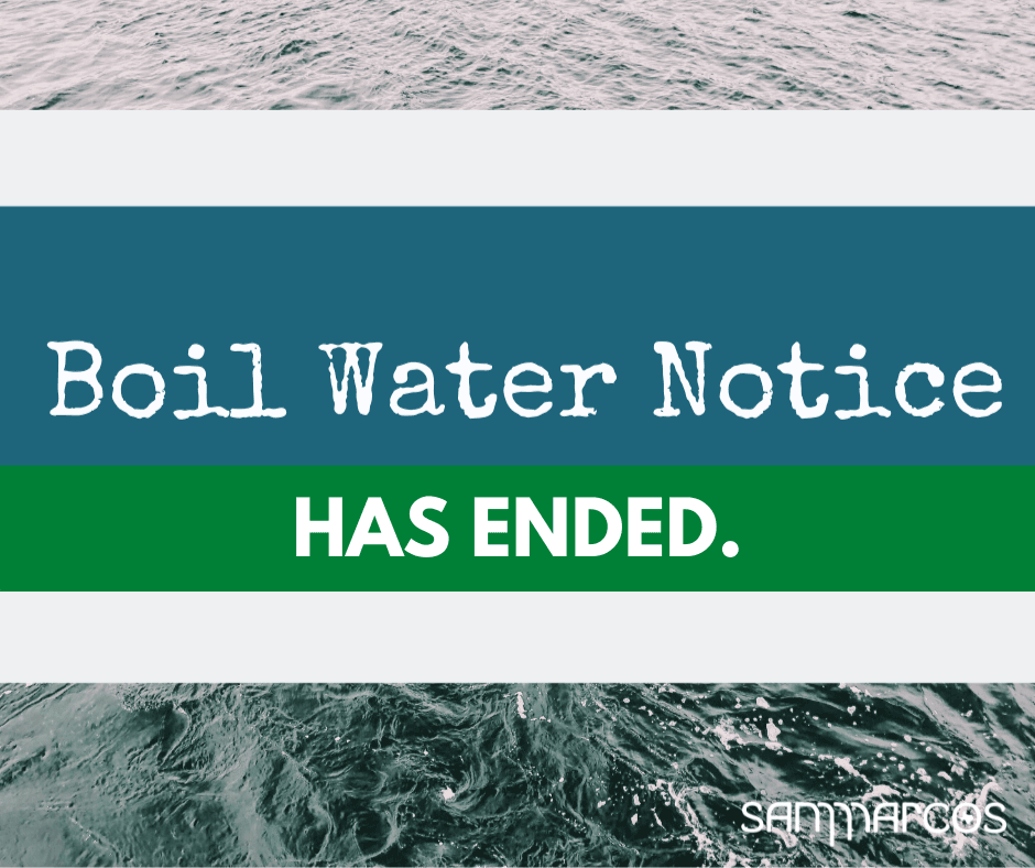 Boil water notice has ended