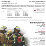 Fire Officer III-IV Flyer 2017