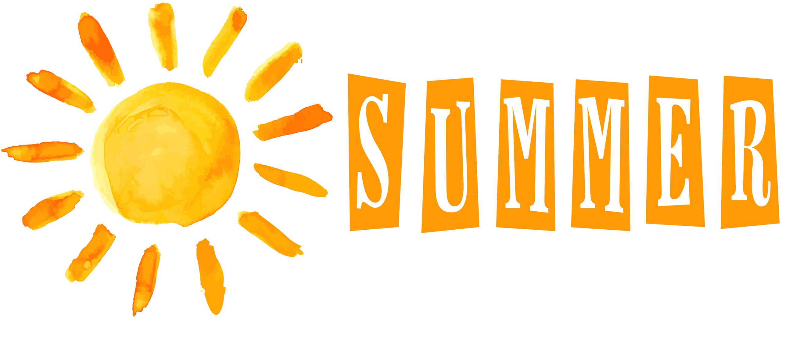 Summer graphic-watercolor sun