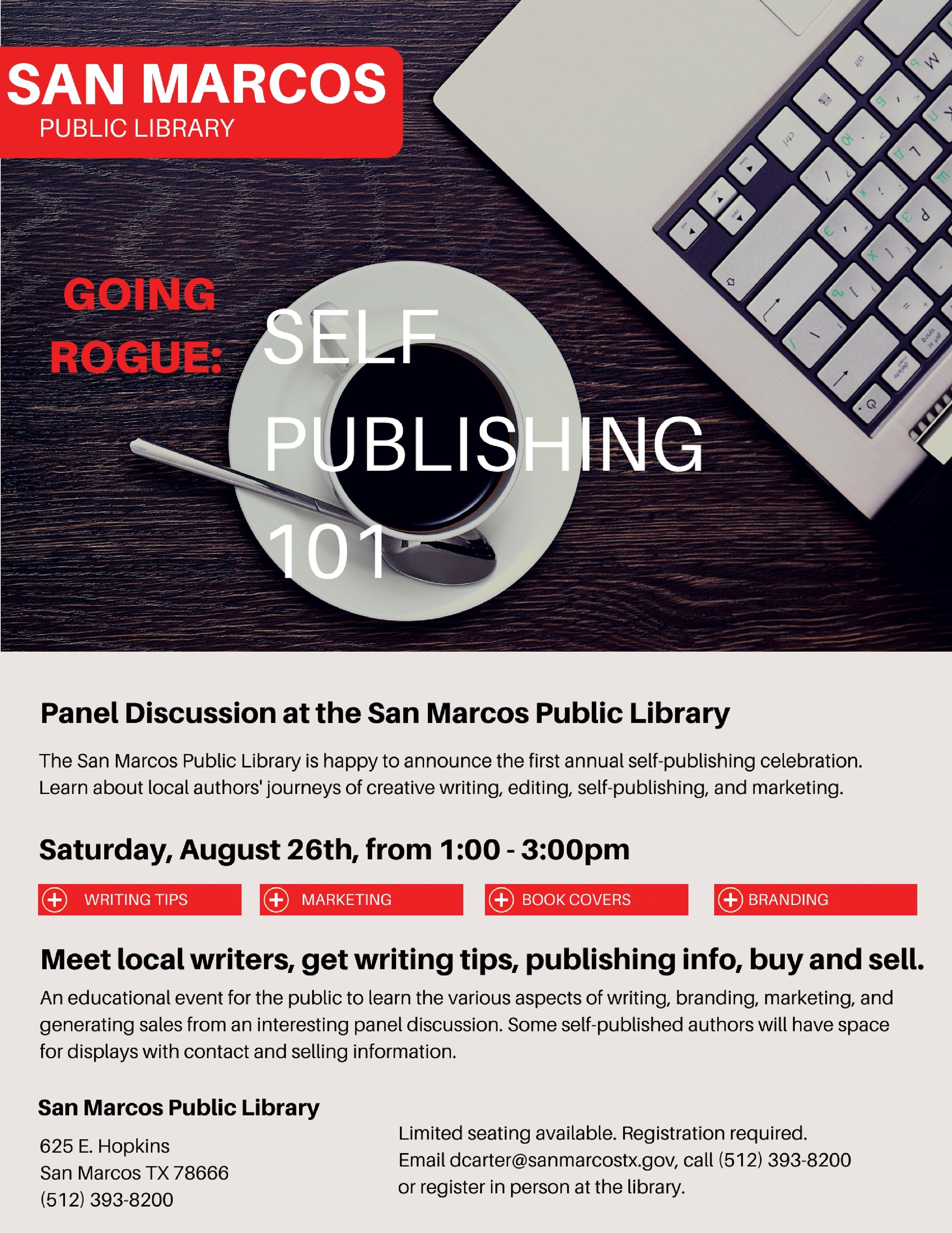 Flyer for Self Publishing 101