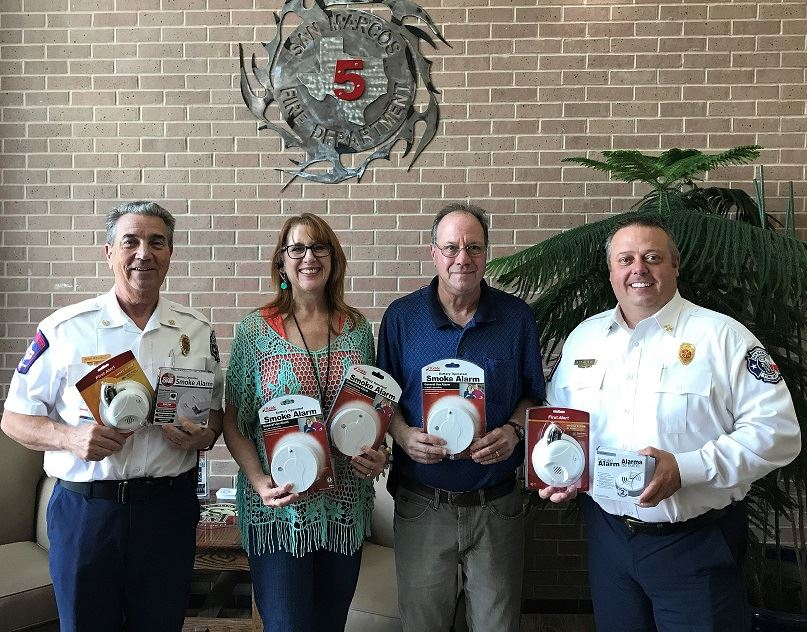 Smoke Detectors from UTC Aerospace were donated to the SMFD.