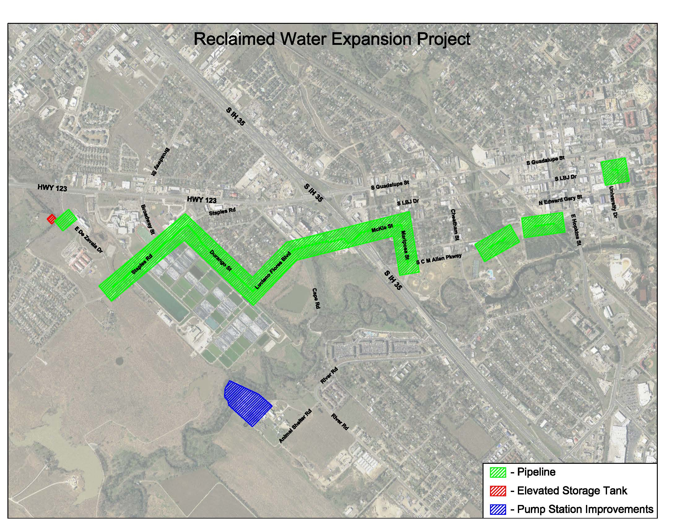 Reclaimed Water Reuse Project Limits Opens in new window