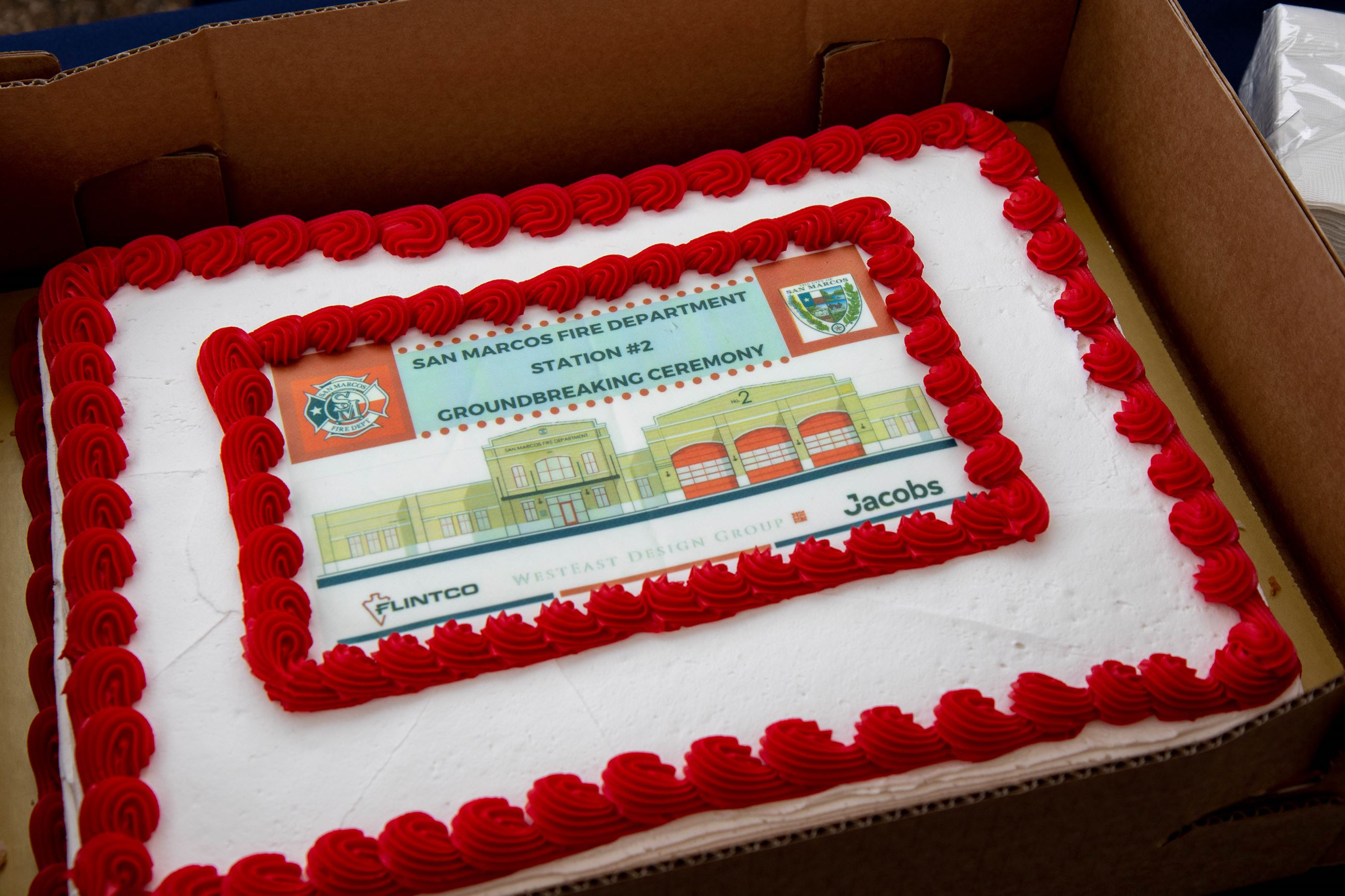 Fire House Groundbreaking-Cake