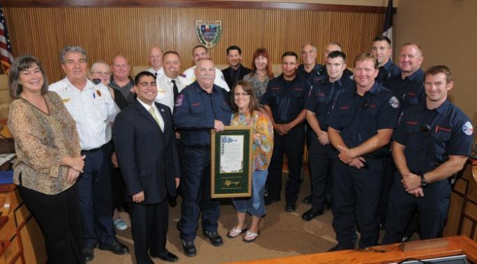 Fire Captain Rodger Olson Honored