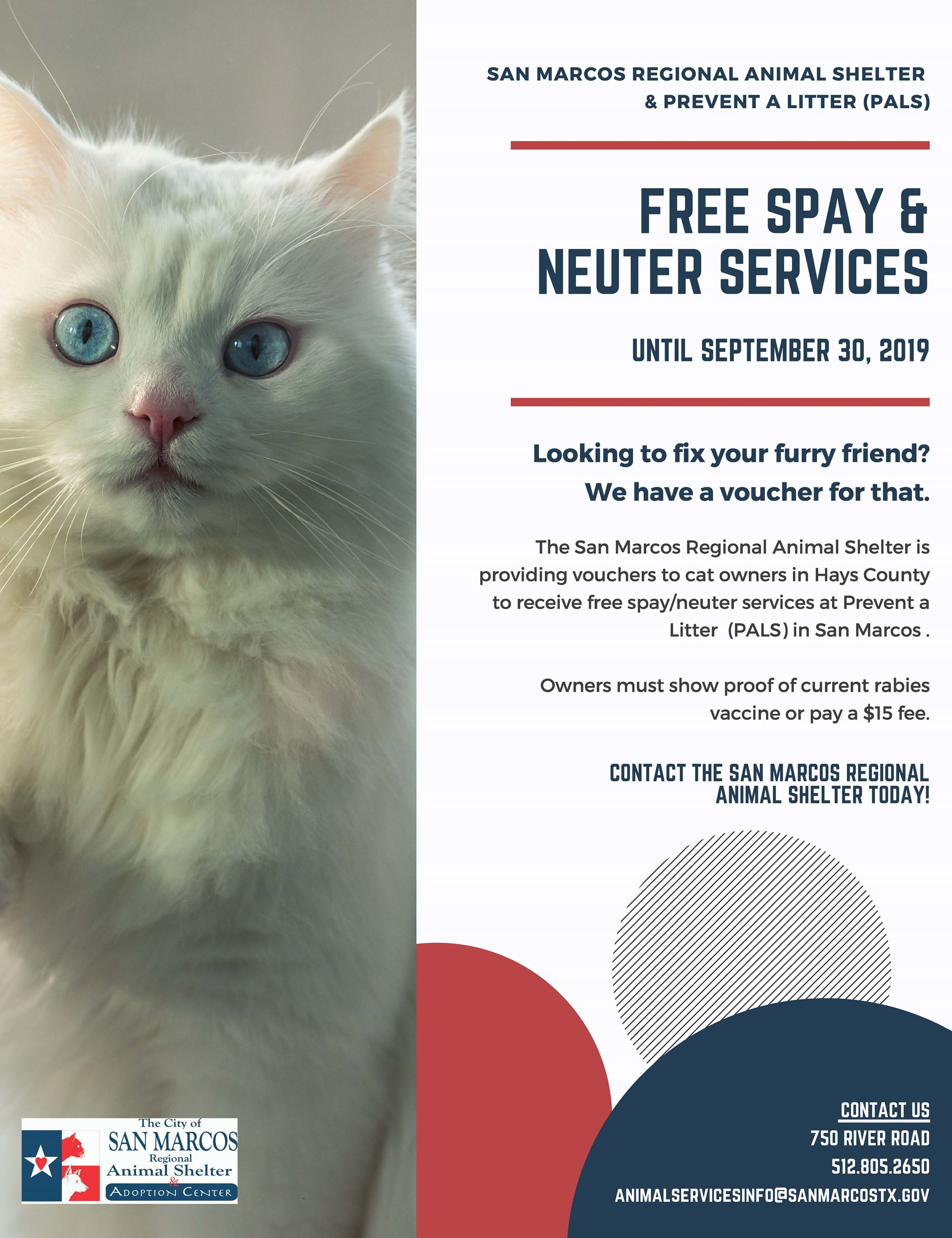 Free Spay  Neuter Flyer