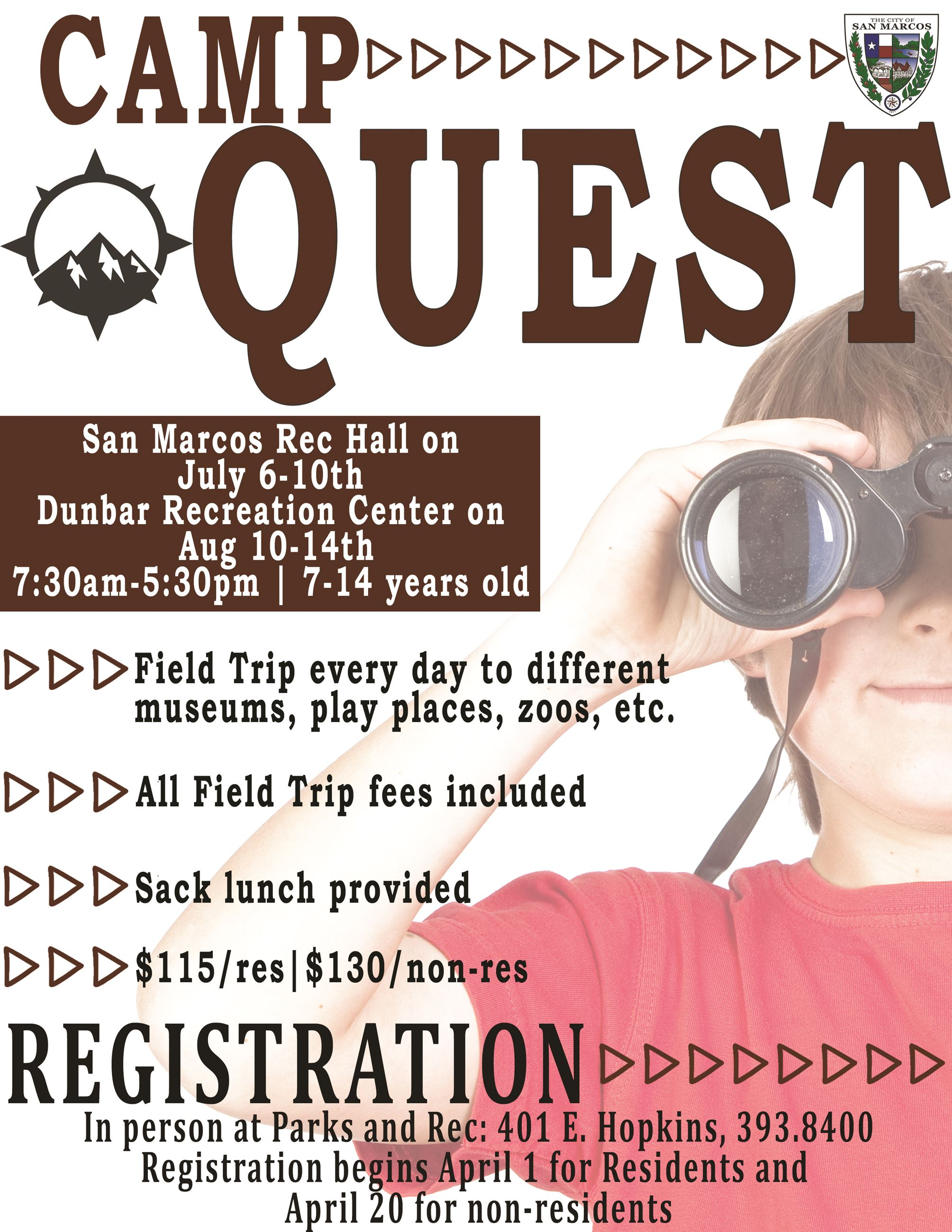 2020 Camp Quest Flyer