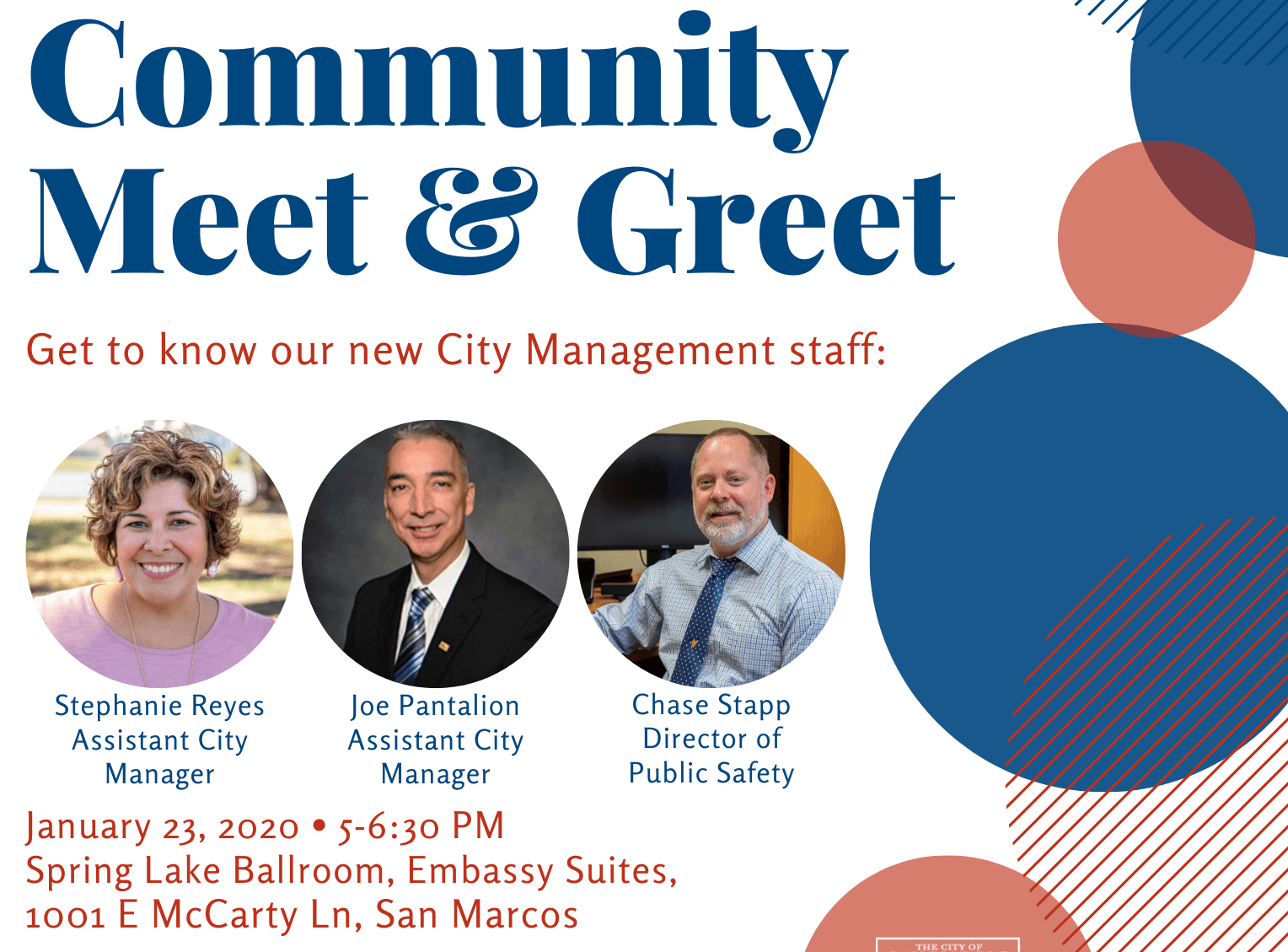 Community Meet and Greet Graphic