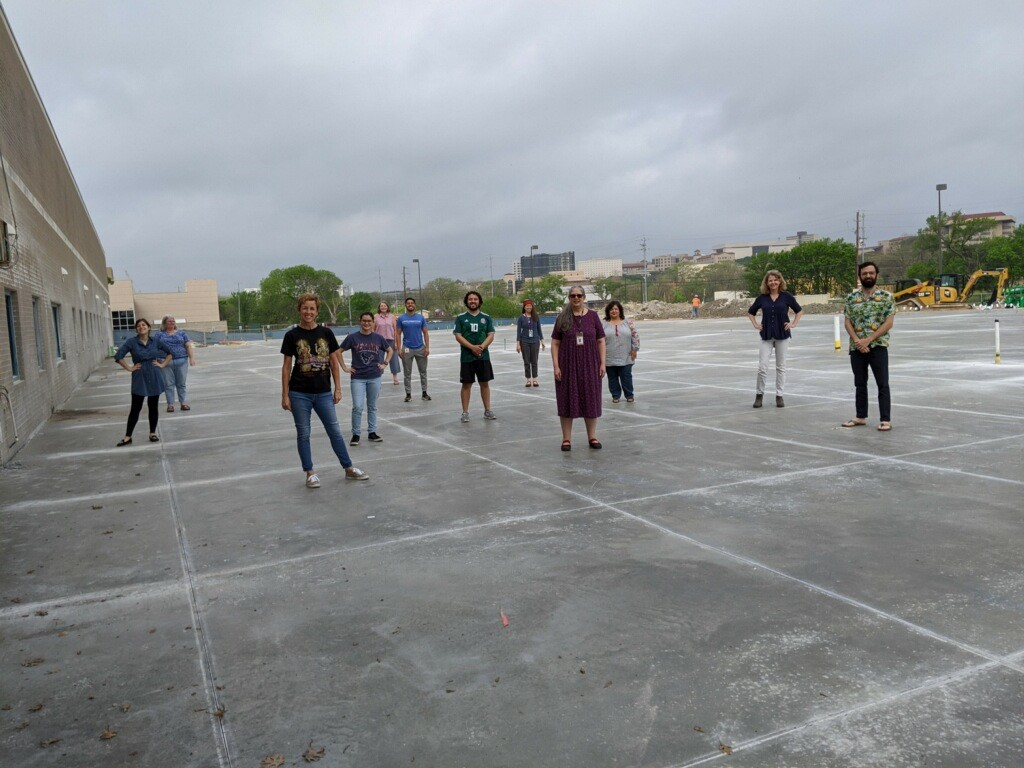 Staff on Concrete Slab 3.26.2020