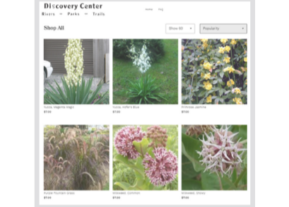 Screenshot of Discovery Center Online Storefront
