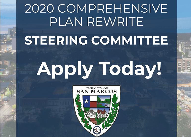 Comprehensive Plan Steering Committee Accepting Applications (Words graphic)