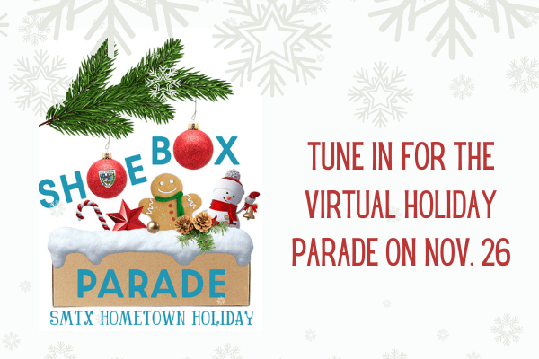 Shoebox parade Announcement