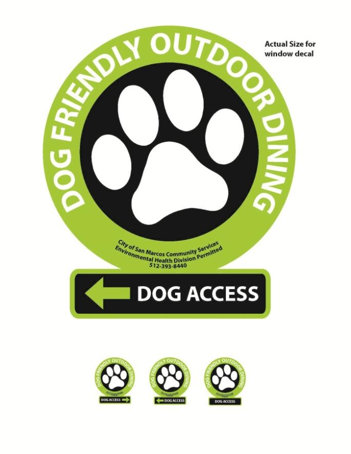 Dog Access sign