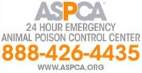 ASPCA 24-Hour Emergency Animal Poison Control Center 888-426-4435 www.aspca.org