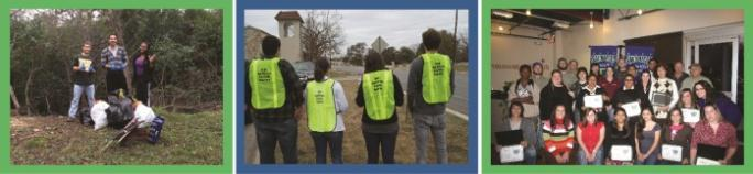 Various Events With People Helping to Keep San Marcos Beautiful