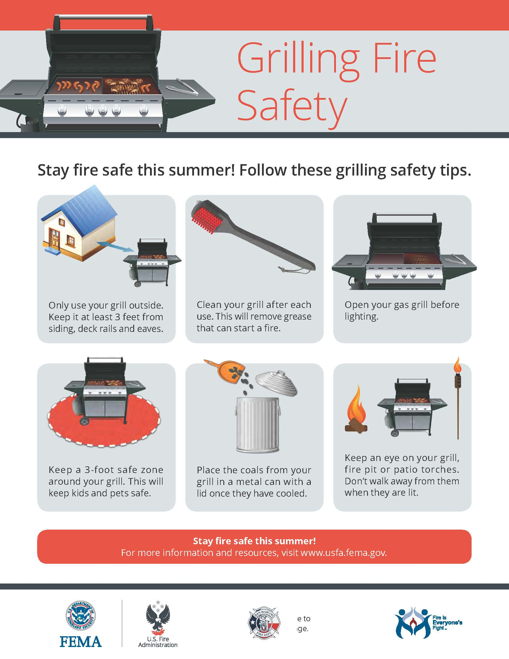 Grilling Fire Safety Flyer