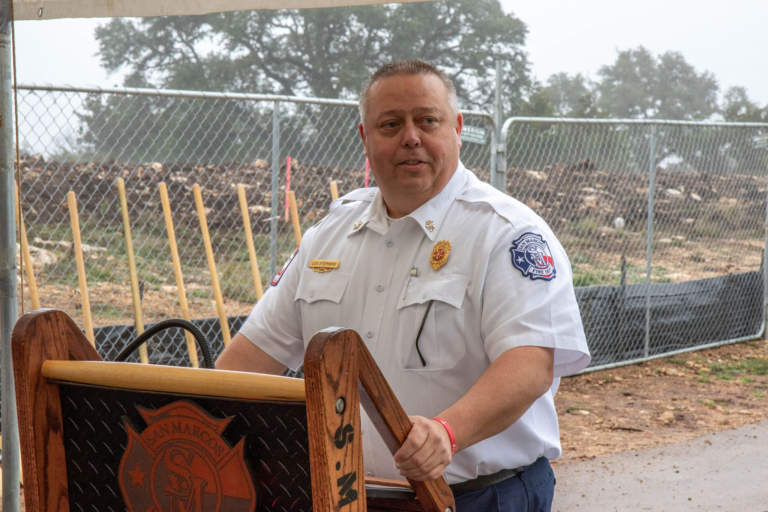 Fire House Groundbreaking-Chief Stephens