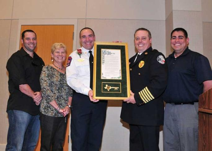 Assistant Chief Len Nored Honored